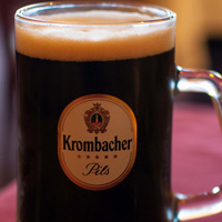 Krombacher beer mug