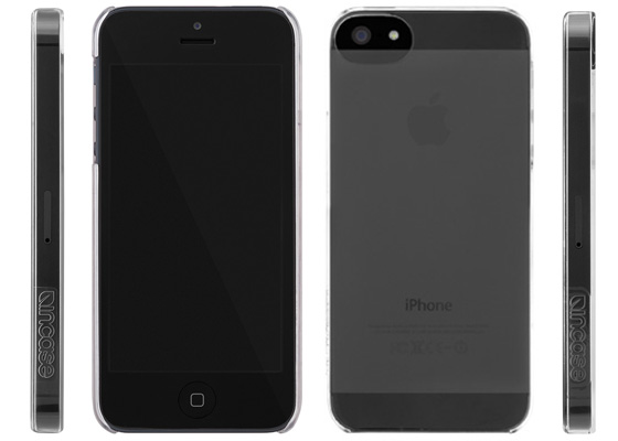 Incase Snap Case shown with black iPhone 5; photos courtesy of Incase