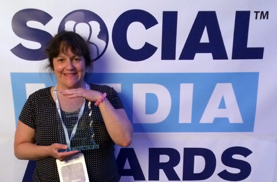 Ariane Colenbrander Best Personal Blog winner at Social Media Awards 2014