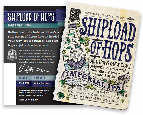 Shipload of Hops Imperial IPA label