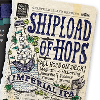 Shipload of Hops Imperial IPA label detail