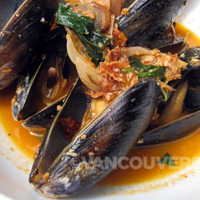 West Oak Restaurant Vancouver Island mussels