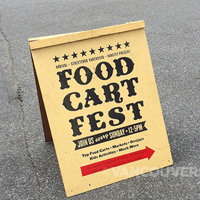 Vancouver Food Cart Fest way finding