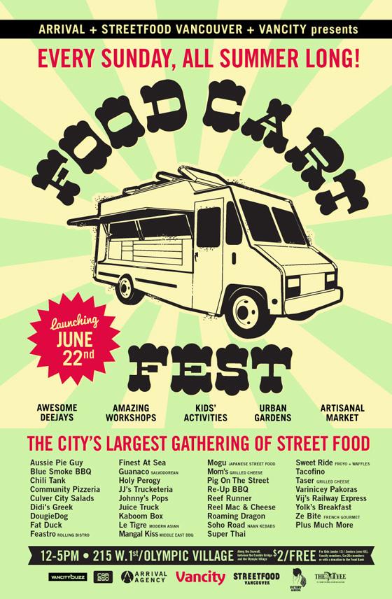 Vancouver Food Cart Fest poster