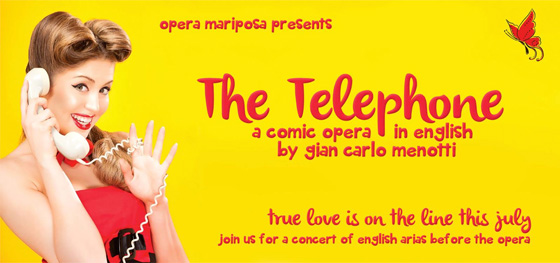 Opera Mariposa's The Telephone banner