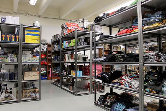 Fortress Geek warehouse shelves