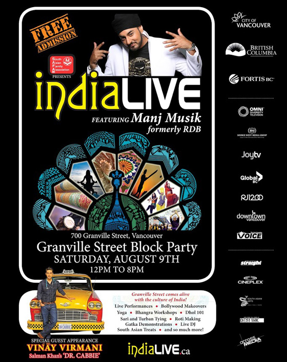 India Live Vancouver Poster