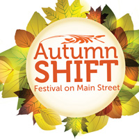 Autumn Shift Festival on Main Street banner