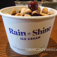 Rain or Shine ice cream cup