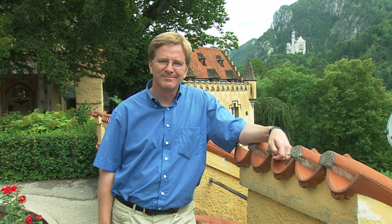 Rick Steves at  Hohenschwangau Castle, Germany
