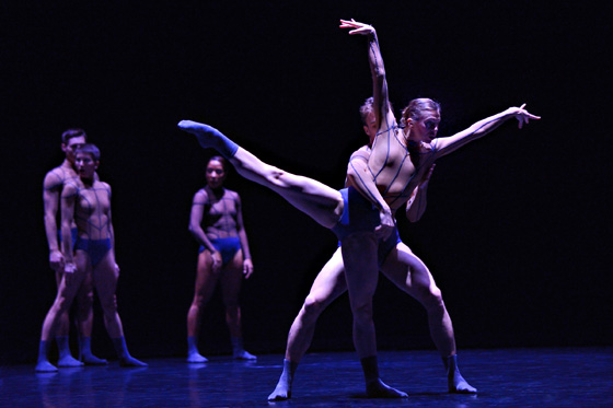 Alexis Fletcher and Peter Smida with artists of Ballet BC in Aura