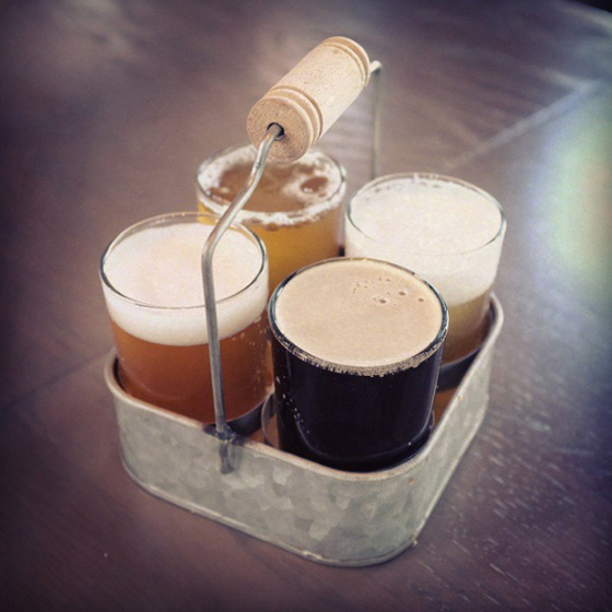 Steel Toad Brewpub sampler