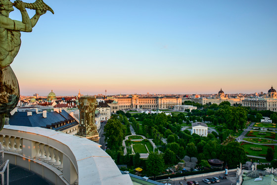 View of Heldenplatz and Museums