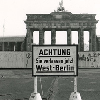 West Berlin at The Wall