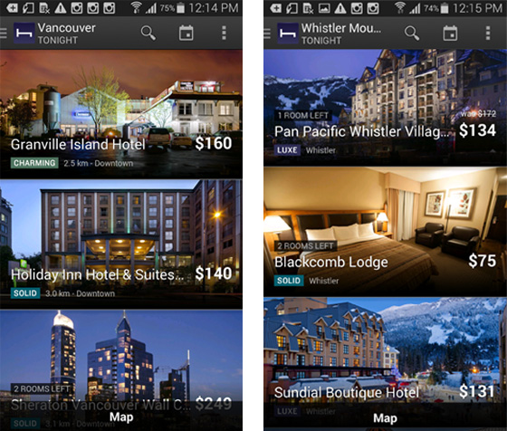 BC hotels in HotelTonight