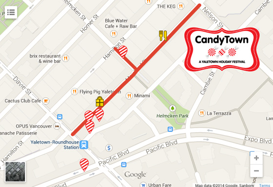 CandyTown Yaletown 2014 map