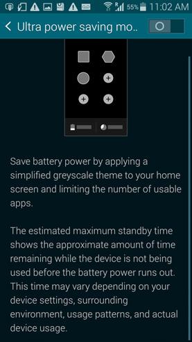 Ultra Power Saving mode