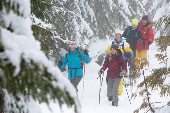 Friends snowshoeing photo by Paul Bride