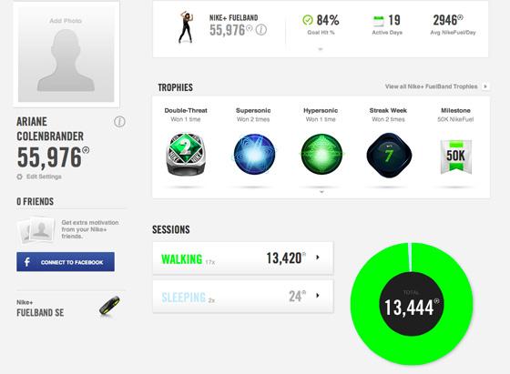 Nike+ FuelBand awards