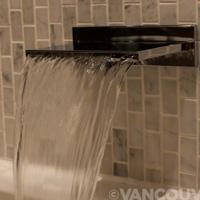 Loden Hotel Dornbracht Deque waterfall bathtub faucet