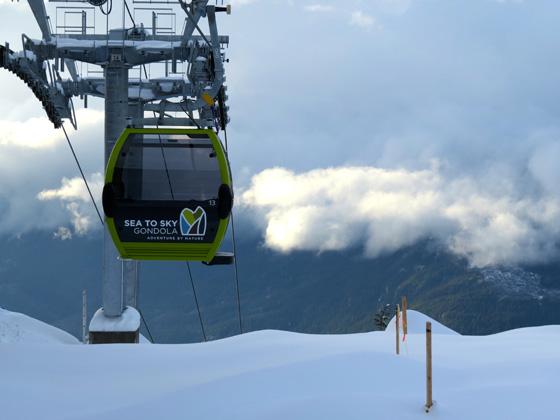 Snowy gondola photo by Geoff Brinkhaus