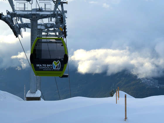 Snowy gondola photo by Geoff Brinkhaus