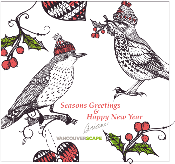 Vancouverscape holiday 2014 card
