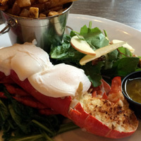 Lobster benny at The Fish Shack, Vancouver
