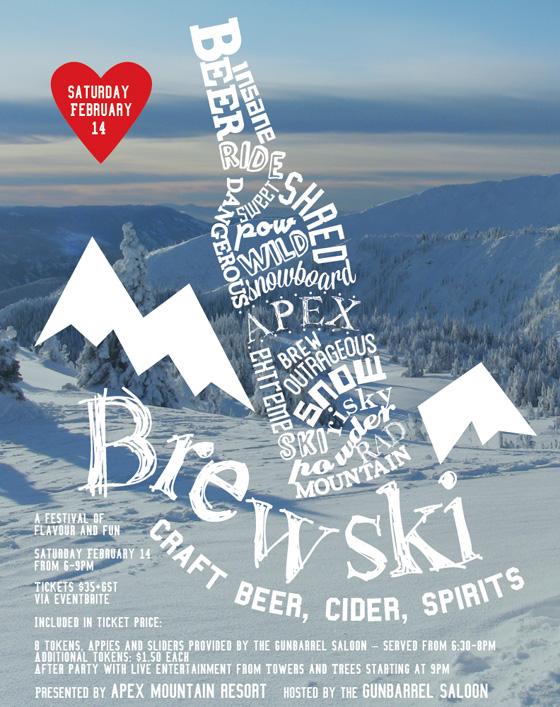 Brewski at Apex Mountain 2015 poster