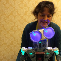 Me with Meccano robot at CES