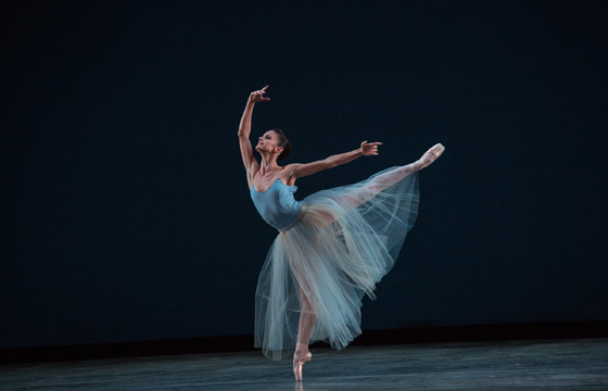 Miami City Ballet dancer Emily Bromberg; photo by Daniel Azoulay