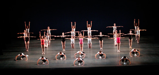 Miami City Ballet dancers in Symphony in Three Movements; photo by  Joe Gato
