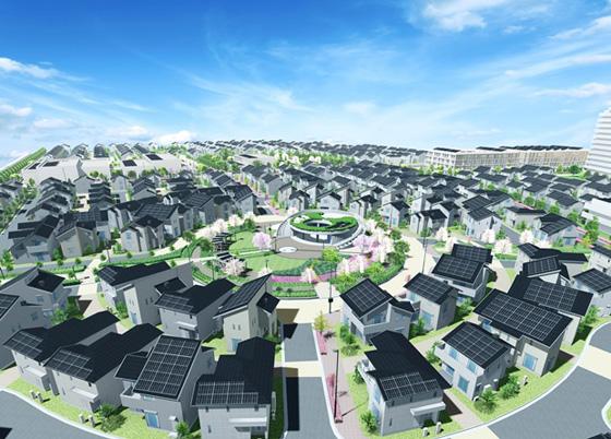 Fujisawa Smart City rendering