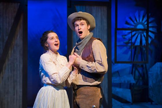 Alexandra Wever as Laurey, Owen Bishop as Curly