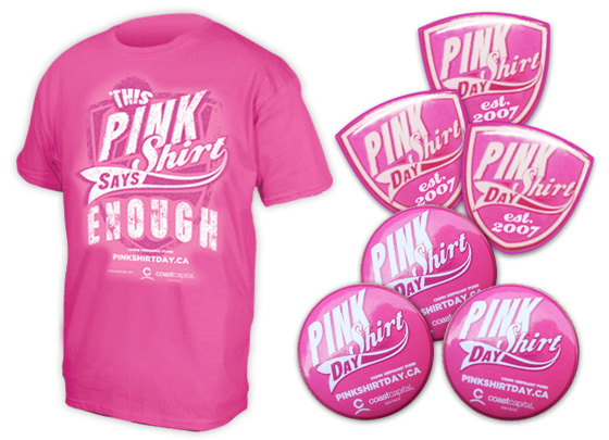 Pink Shirt Day items