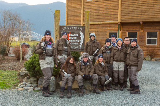 Group at Fraser River Lodge