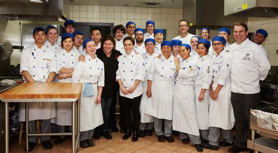 Chef Lynn Crawford and PICA culinary team