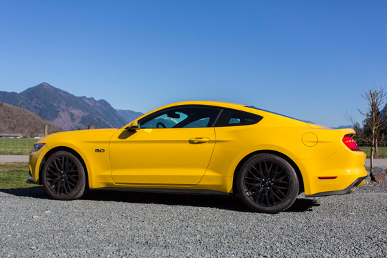 Yellow 2015 Ford Mustang
