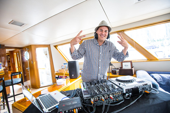 DJ at sea
