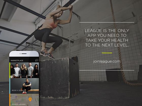 LEAGUE app screen shot