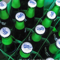 Steam Whistle pilsner bottles