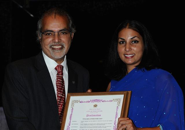 Barj Dhahan with Niki Sharma