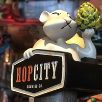 Hop City Barking Squirrel Lager tap