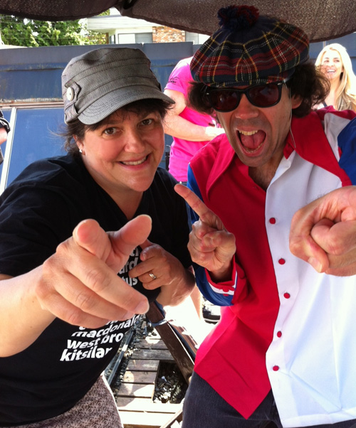Nardwuar and I at Zulu Records, Vancouver