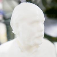Douglas Coupland 3D bust, Vancouver