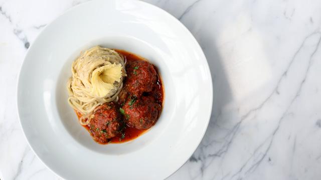 Truffled Spaghetti and Signature Meatballs