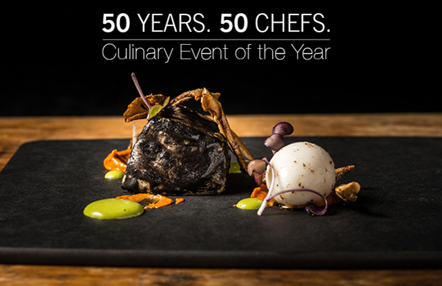50 Chefs. 50 Years Gala banner