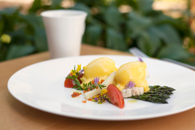 Asparagus and Crab Benny
