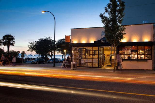 Beach Bay Cafe exterior, Vancouver