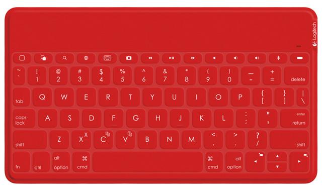 Logitech Keys to Go in red